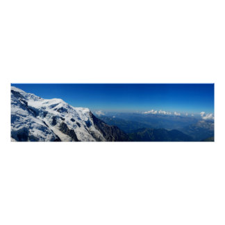Panoramic View From Mont Blanc Poster