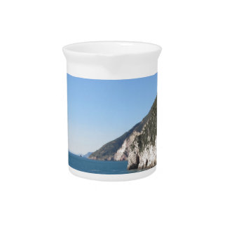 Panoramic view from Portovenere Beverage Pitcher