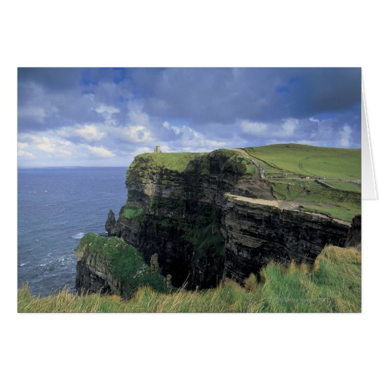 panoramic view of a cliff by the seaside card