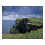 panoramic view of a cliff by the seaside print