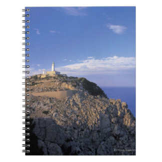 panoramic view of a light house on a cliff spiral notebook