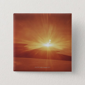 panoramic view of a sunrise pinback button