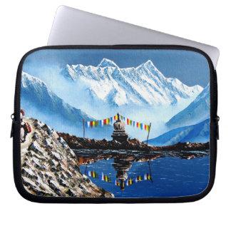 Panoramic View Of Annapurna Mountain Nepal Computer Sleeve