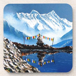 Panoramic View Of Annapurna Mountain Nepal Drink Coaster