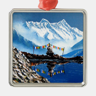 Panoramic View Of Annapurna Mountain Nepal Metal Ornament