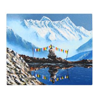 Panoramic View Of Annapurna Mountain Nepal Metal Photo Print