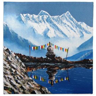Panoramic View Of Annapurna Mountain Nepal Napkin