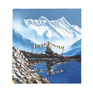Panoramic View Of Annapurna Mountain Nepal Notepad