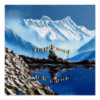 Panoramic View Of Annapurna Mountain Nepal Poster