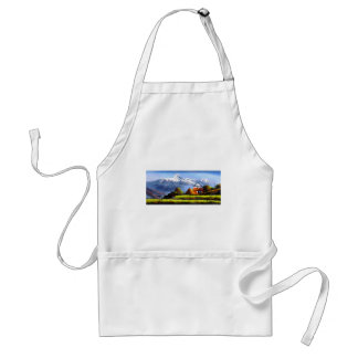 Panoramic View Of Beautiful Everest Mountain Adult Apron