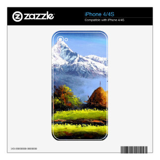 Panoramic View Of Beautiful Everest Mountain Skins For iPhone 4S