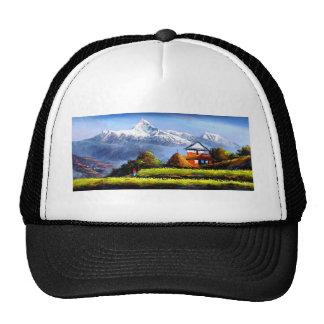 Panoramic View Of Beautiful Everest Mountain Trucker Hat