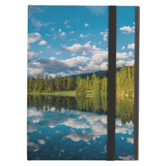 Panoramic view of Beauvert Lake in Jasper iPad Air Cover