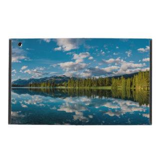 Panoramic view of Beauvert Lake in Jasper iPad Case