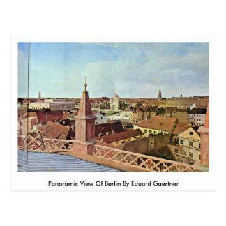 Panoramic View Of Berlin By Eduard Gaertner Postcard