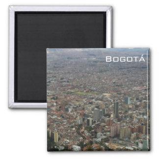 Panoramic view of Bogota 2 Inch Square Magnet