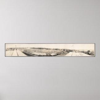 Panoramic view of Brockton Fair Grounds Poster