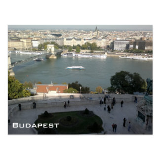 Panoramic view of Budapest Post Card