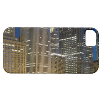 Panoramic view of buildings along the Chicago iPhone 5 Cases