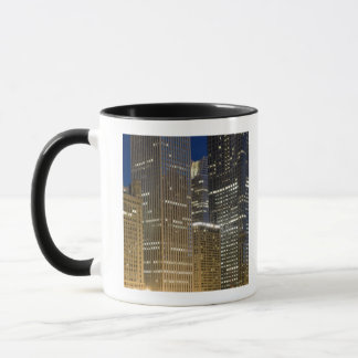 Panoramic view of buildings along the Chicago Mug