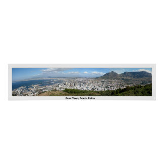 Panoramic View of Cape Town, South Africa Poster