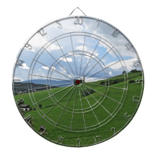 Panoramic view of Castelrotto Dartboard With Darts