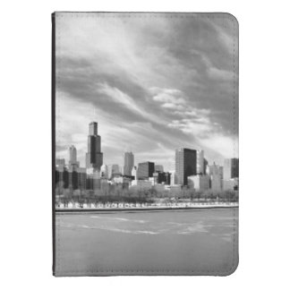 Panoramic view of Chicago skyline in winter Kindle Touch Case