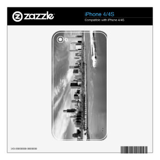 Panoramic view of Chicago skyline in winter Decals For iPhone 4S