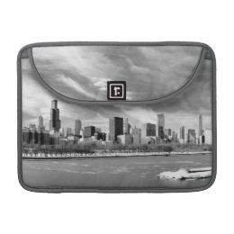 Panoramic view of Chicago skyline in winter MacBook Pro Sleeve