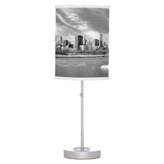 Panoramic view of Chicago skyline in winter Table Lamp