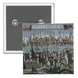 Panoramic view of Constantinople, late 18th centur Pinback Button