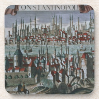 Panoramic view of Constantinople, late 18th centur Drink Coaster