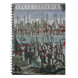 Panoramic view of Constantinople, late 18th centur Notebook