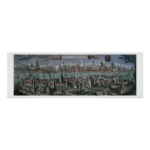 Panoramic view of Constantinople, late 18th centur Posters