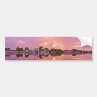 Panoramic View of Dawn in Puerto Encantado Bumper Stickers