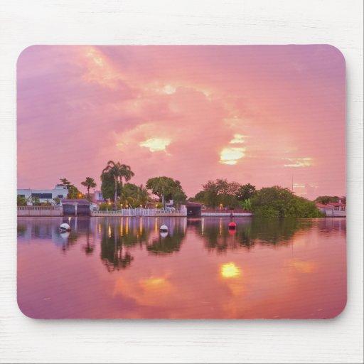 Panoramic View of Dawn in Puerto Encantado Mousepad