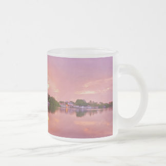 Panoramic View of Dawn in Puerto Encantado 10 Oz Frosted Glass Coffee Mug