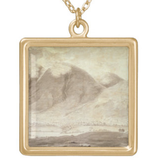 Panoramic View of Derwentwater and the Vale of Kes Gold Plated Necklace