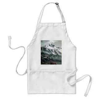Panoramic View Of Everest Base Camp Adult Apron