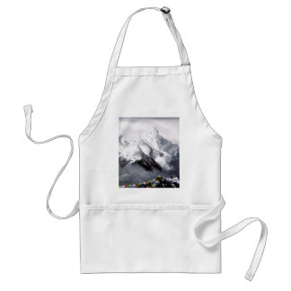 Panoramic View Of Everest Mountain Adult Apron