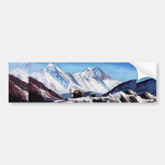 Panoramic View Of Everest Mountain Base Camp Area Bumper Sticker