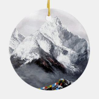 Panoramic View Of Everest Mountain Ceramic Ornament
