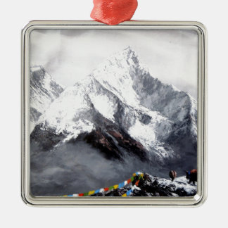 Panoramic View Of Everest Mountain Metal Ornament