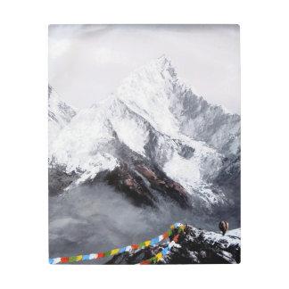 Panoramic View Of Everest Mountain Metal Photo Print