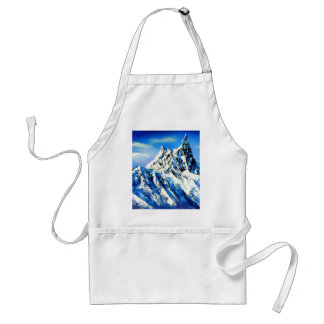 Panoramic View Of Everest Mountain Peak Adult Apron