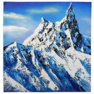 Panoramic View Of Everest Mountain Peak Cloth Napkin