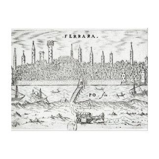 Panoramic view of Ferrara Canvas Print
