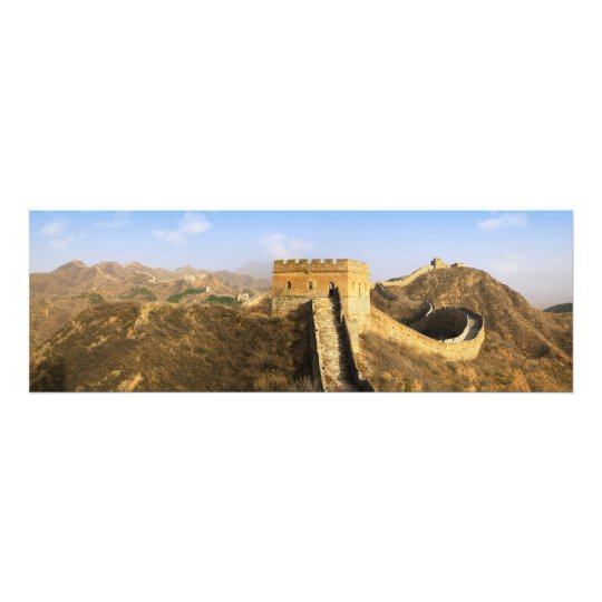 Panoramic view of Great Wall, China 2 Photo Print