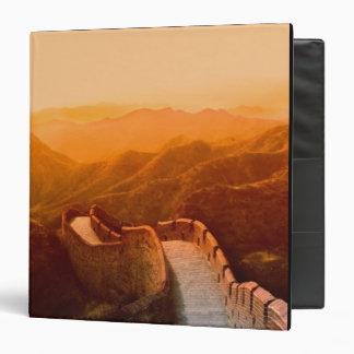 Panoramic view of Great Wall, China Binder