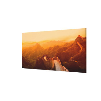 Panoramic view of Great Wall, China Canvas Print